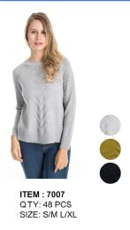 48 Units of Women Solid Knitted Long Sleeve Sweater - Womens Sweaters & Cardigan