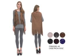48 Units of Laser Cut Vest - Winter Pashminas and Ponchos