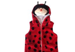 12 Units of Vest With Ladybug Hoody For Kids - Winter Animal Hats