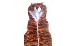 12 Units of VEST WITH TIGER HOODY FOR KIDS - Winter Animal Hats
