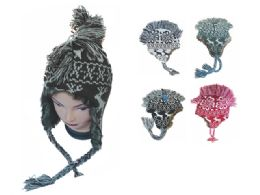 60 Units of MOHAWK EAR FLAP KNIT HAT - Fashion Winter Hats