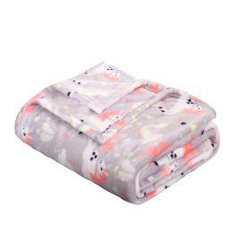 24 Units of Children's Unicorn Printed Fleece Blanket Size 50 X 60 - Fleece & Sherpa Blankets