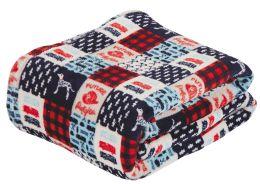 24 Units of Children's Assorted Printed Fleece Blanket Size 50 x 60 - Fleece & Sherpa Blankets
