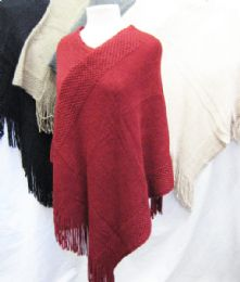 24 Units of Women's Heavy Knit Winter Shawl - Winter Pashminas and Ponchos