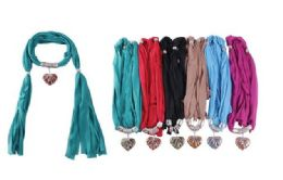 72 Units of Ladies Pendant Fashion Scarf - Womens Fashion Scarves
