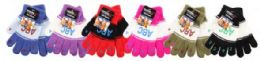 120 Units of Kids Magic Glove With Hot Stamp - Kids Winter Gloves