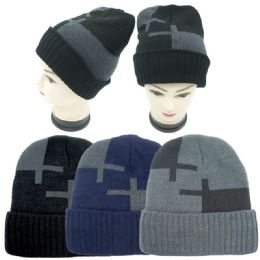 36 Units of Mens Warm Winter Hat - Winter Beanie Hats