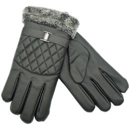 24 Units of Mens Lined Touch Gloves - Conductive Texting Gloves