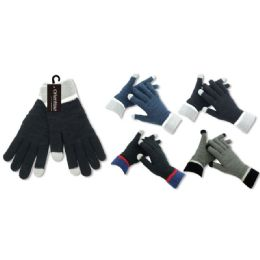 36 Units of Men's pashmina glove - Knitted Stretch Gloves