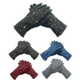 72 Units of Lady's star gloves - Fleece Gloves
