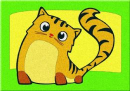 60 Units of Mini Cat Sand Painting Card - Arts & Crafts