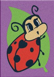 60 Units of Mini Ladybug Sand Painting Card - Arts & Crafts