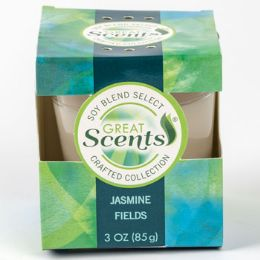 12 Units of Candle 3 Ounce Jasmine Fields Soy Blend Select - Candles & Accessories