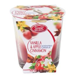 12 Units of Candle Scented Jar Vanilla And Apple Cinnamon - Candles & Accessories