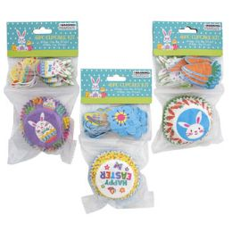 48 Units of Baking Cup Kit Easter 3 Assorted - Easter