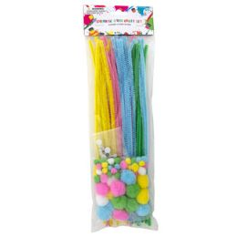 24 Units of Chenille Stem Pastel Craft Set - Easter