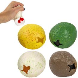 36 Units of Dinosaur Egg Squeeze Toy With Baby Dino Inside - Slime & Squishees
