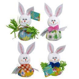 24 Units of Easter Bunny Big Belly Tabletop Decor - Easter
