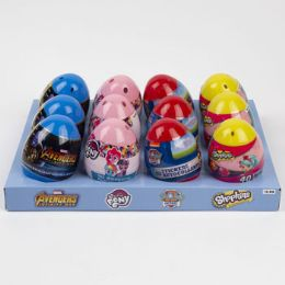 12 Units of Easter Egg With Stickers Licensed - Easter