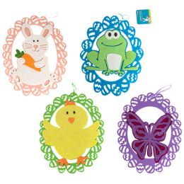 36 Units of Hanging Decor Easter Felt Glittered Cutout - Easter