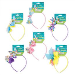 48 Units of Headband Easter With Bows - Easter