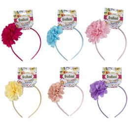 48 Units of Headband Lace Single Flower - Easter