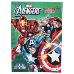 24 Units of Coloring Book Avengers In 24 Pc Display Box - Coloring & Activity Books