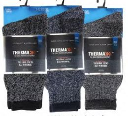 36 Units of Men's Thermal Thick Winter Sock Size 10-13 - Mens Thermal Sock