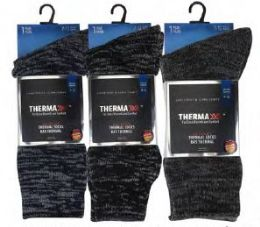 36 Units of Men's Thermal Winter Sock Size 10-13 - Mens Thermal Sock