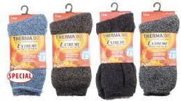 36 Units of Men's Extra Thick Thermal Winter Crew Sock Size 10-13 - Mens Crew Socks