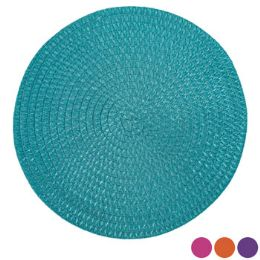 48 Units of Placemat Round Spring Colors - Easter