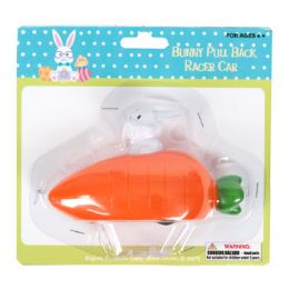 24 Units of Rabbit Race With Carrot Car Pullback - Easter