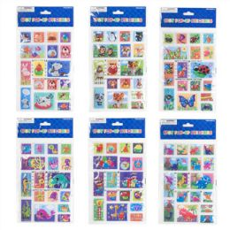 48 Units of Sticker Pop Up Square Shaped Assorted - Easter