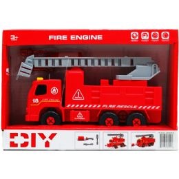 "12 Units of 8"" B/O FIRE TRUCK W/ SCREW DRIVER IN OPEN BOX, 2 ASSRT STYLE - Toy Sets"