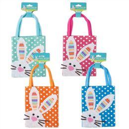 144 Units of Treat Bag Polka Dot Bunny - Easter