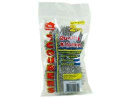 144 Units of 2 Pack Galvanized Wire Scourers - Store