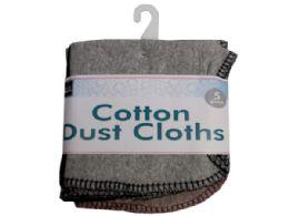 60 Units of 5 Pc Cotton Dust Cloths - Store