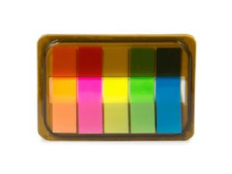 144 Units of Mini Sticky Page Markers, Solid - Sticky Note & Notepads