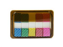 144 Units of Mini Sticky Page Markers, Striped - Sticky Note & Notepads