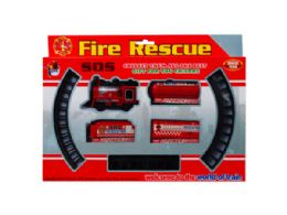 12 Units of Battery Operated Firefighter Train With Rails - Cars, Planes, Trains & Bikes