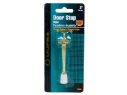 144 Units of 3 Brass Plated Rigid Door Stop - Store