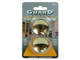 72 Units of Guard Security 1.5 Brass Cabinet Knobs - Store