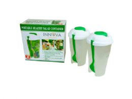 12 Units of Green 2 Pack Salad Container Set - Food Storage Containers