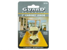 144 Units of Guard Security 1 Brass Cabinet Knobs - Store