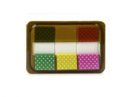 144 Units of Sticky Page Markers, Polka Dot - Sticky Note & Notepads