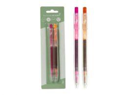 144 Units of Eco Retractable Gel Pen, Pink/orange (2pk) - Pens