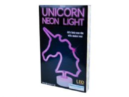 12 Units of Tabletop Battery Operated Unicorn Neon Light - Lightbulbs