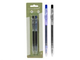 144 Units of Eco Retractable Gel Pen, Black/blue (2pk) - Pens