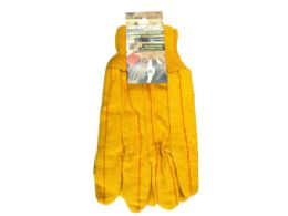 72 Units of Universal Size Yellow Chore Working Gloves - Working Gloves