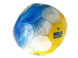 12 Units of Size 5 Argentina Boca Jrs TrI-Color Soccer Ball - Sports Toys